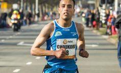 Khalid Choukoud aan de start van de 29ste Bruggenloop Rotterdam