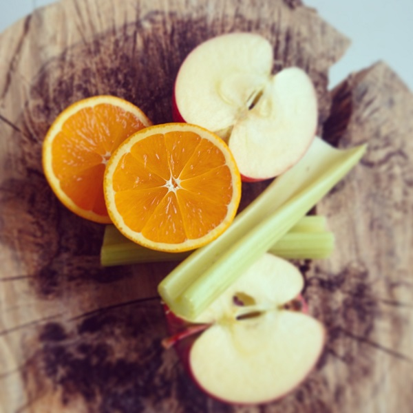 Bleekselderij, appel/sinaasappelsap