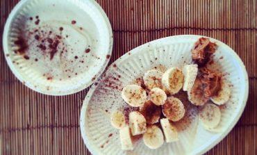 Banaan smoothie met pindakaas