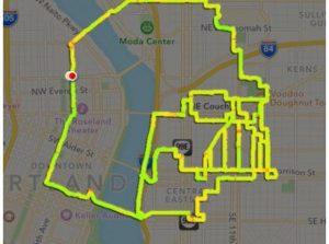 Star Wars fan maakt Star Wars figuren met Nike+ routes