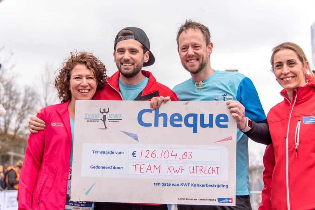 Team KWF tijdens Marathon in Utrecht