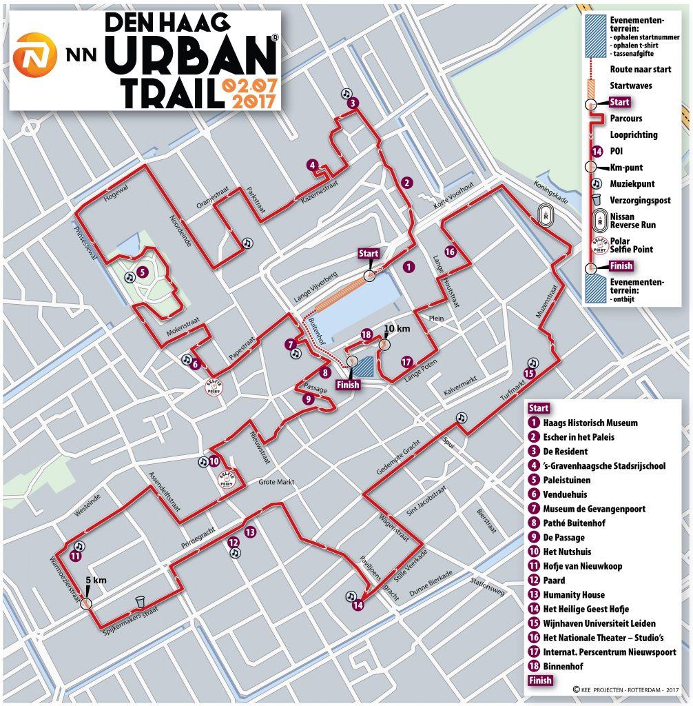 Route Urban Trail Den Haag