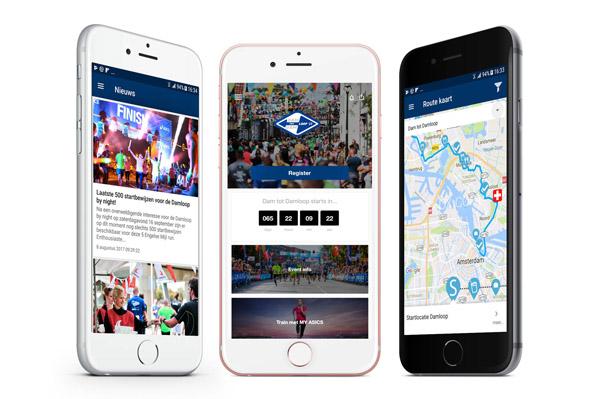 Dam tot Damloop app 2017