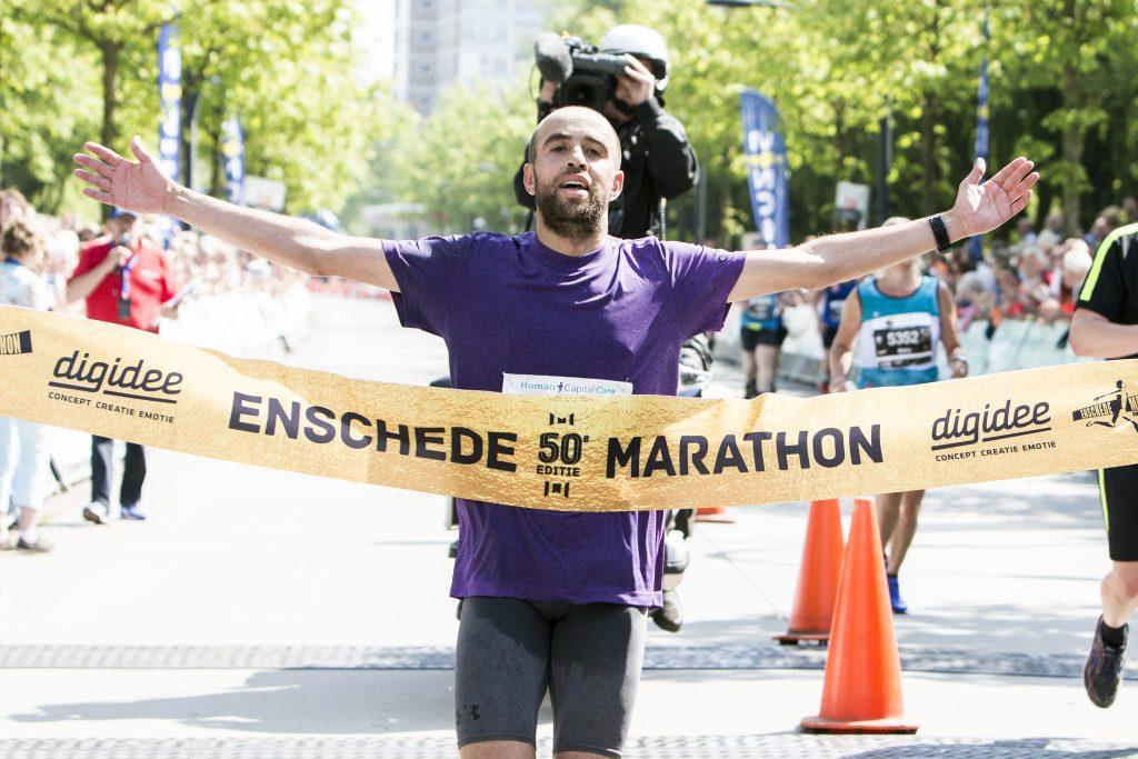 Enschede Marathon winnaar Hicham el Barouki