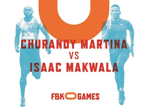 Churandy Martina VS Isaac Makwala op FBK Games