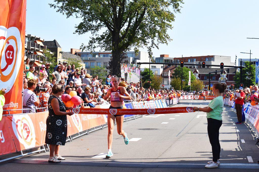Jip Vastenburg eerste Nederlandse Tilburg Ladiesrun