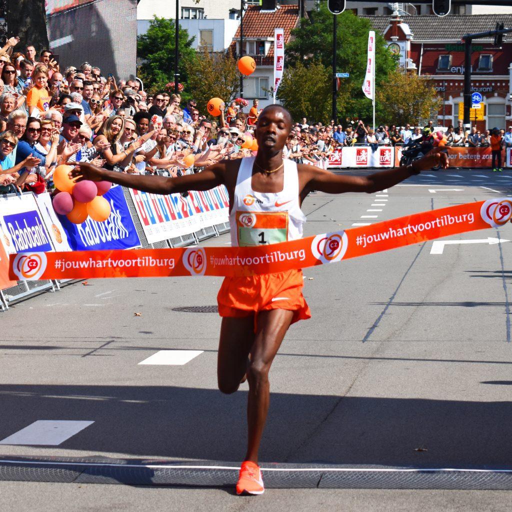 Rodgers Kwemoi winnaar Tilburg Ten Miles