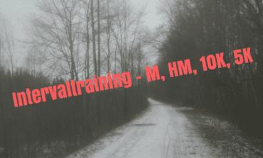 Intervaltraining met M, HM, 10K, 5K tempo's