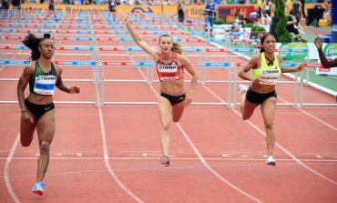 Nadine Visser duelleert met olympisch hordekampioene Brianna McNeal