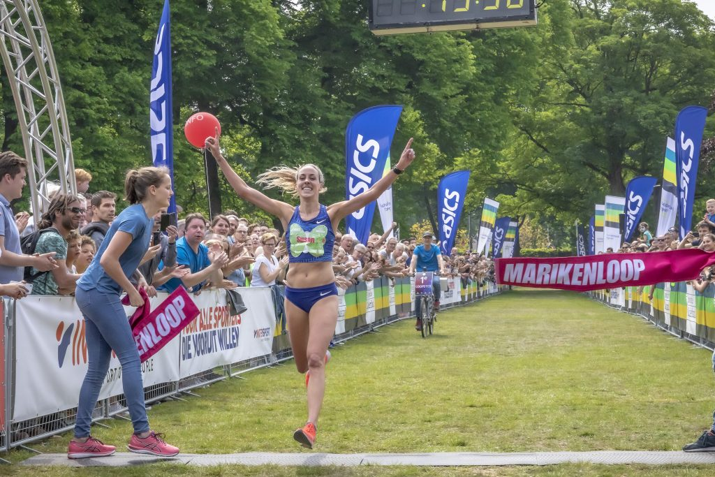 Susan Krumins wint Marikenloop 2019 in parcoursrecord