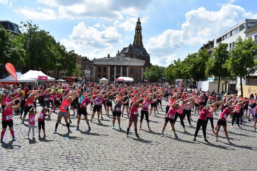 Ladiesrun Groningen warming-up