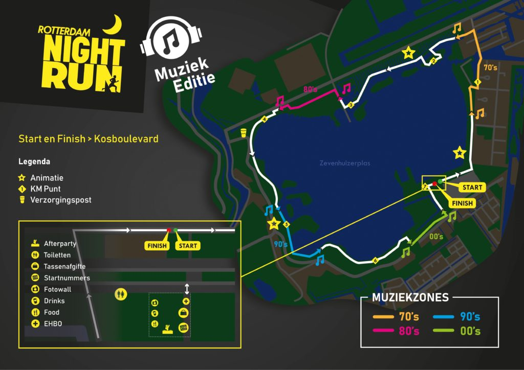 Rotterdam Night Run Parcourskaart