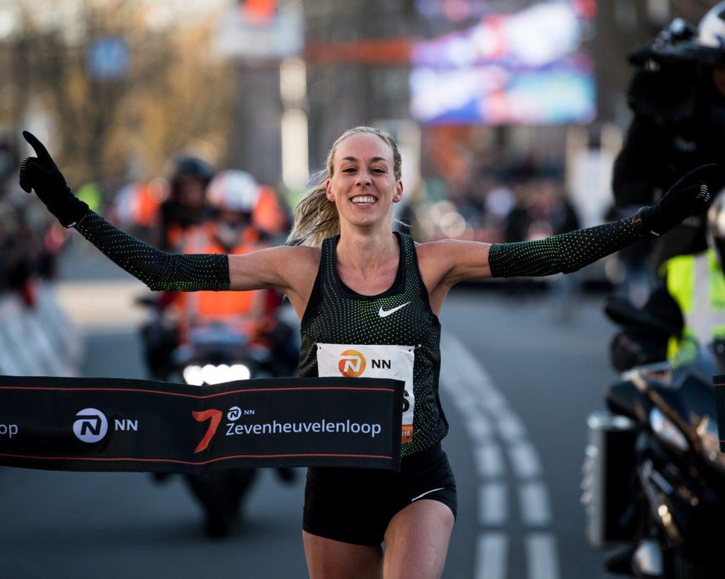Susan Krumins tijdens Zevenheuvelenloop 2018