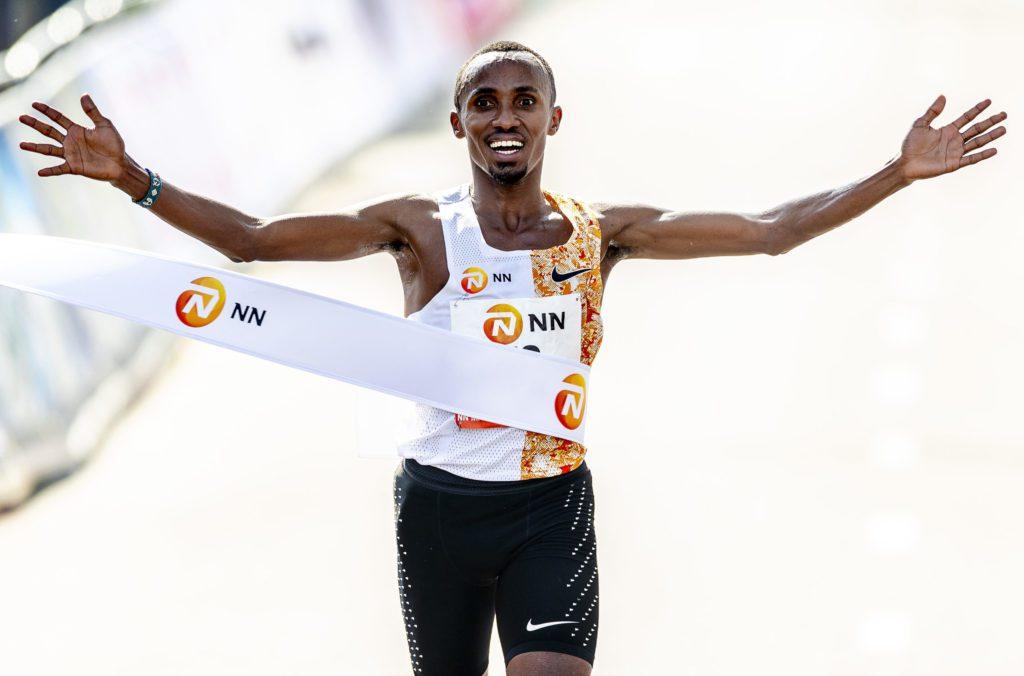 Abdi Nageeye finish Marathon Rotterdam