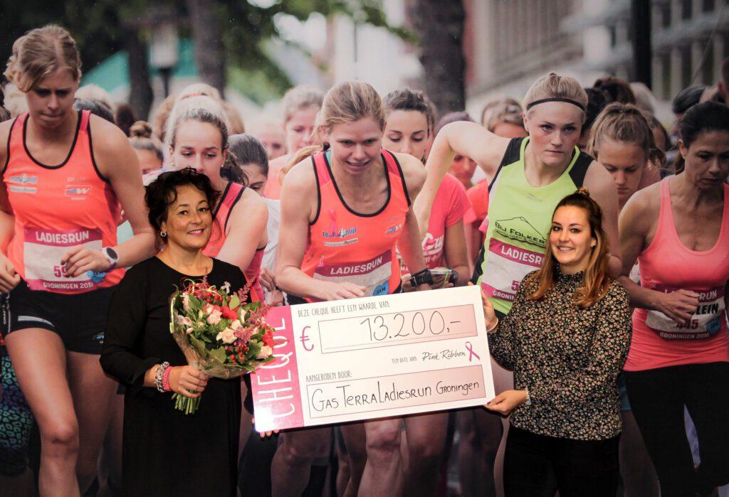 Pink ribbon en Ladiesrun Groningen