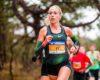Susan Krumins en Mike Foppen aan de start Nederlands kampioenschap 10 km